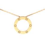 Vintage Cartier Love Pendant Necklace in Rose Gold