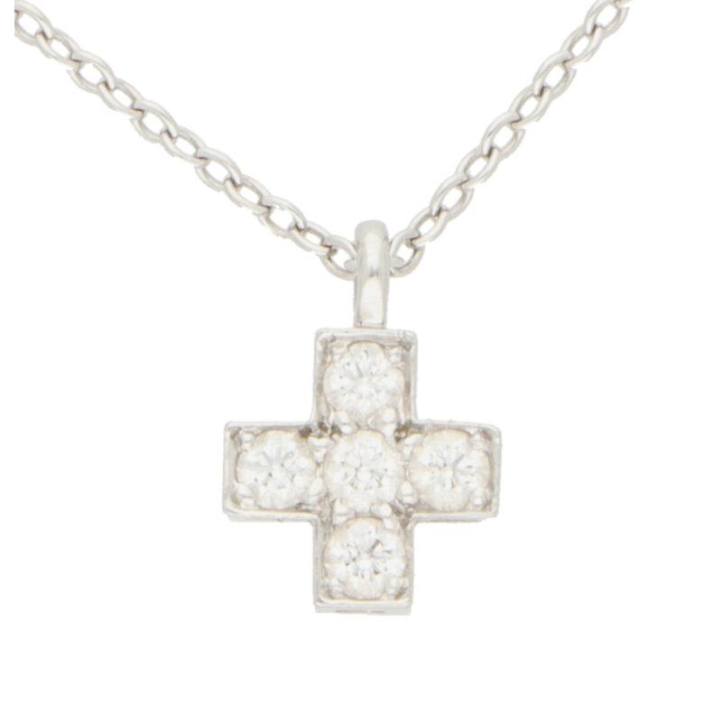Vintage Tiffany & Co. Diamond Cross Necklace