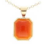 Orange Carnelian Pendant