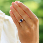 Certified Vintage Harry Winston Sapphire and Diamond Ring