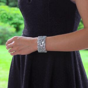 Contemporary Aquamarine Bracelet