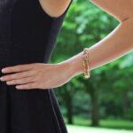 Vintage Pastel Pink and Blue Sapphire Link Bracelet