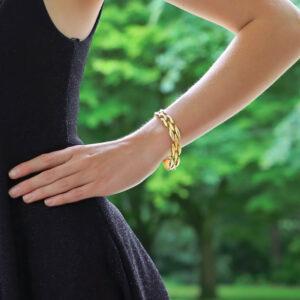 Vintage Gentiane Cartier Oval Link Bracelet