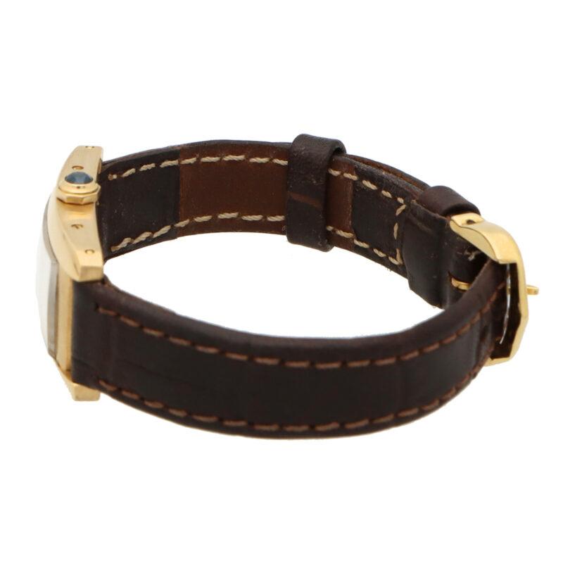 18 carat gold Cartier Tank Americaine wrist watch