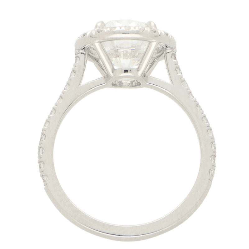 GIA Certified 3.01ct Oval Brilliant Cut Diamond Ring