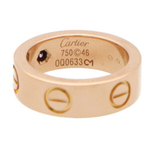 Vintage Cartier Pink Sapphire Love Ring in Rose Gold