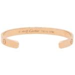 Vintage Cartier LOVE U Bangle in Rose Gold Size 17