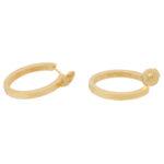 Vintage Cartier Diamond Hoop Earrings in Yellow Gold