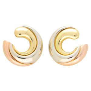 Vintage Cartier Trinity Large Hoop Earrings