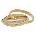 Vintage Cartier 2mm Trinity Ring Size 53
