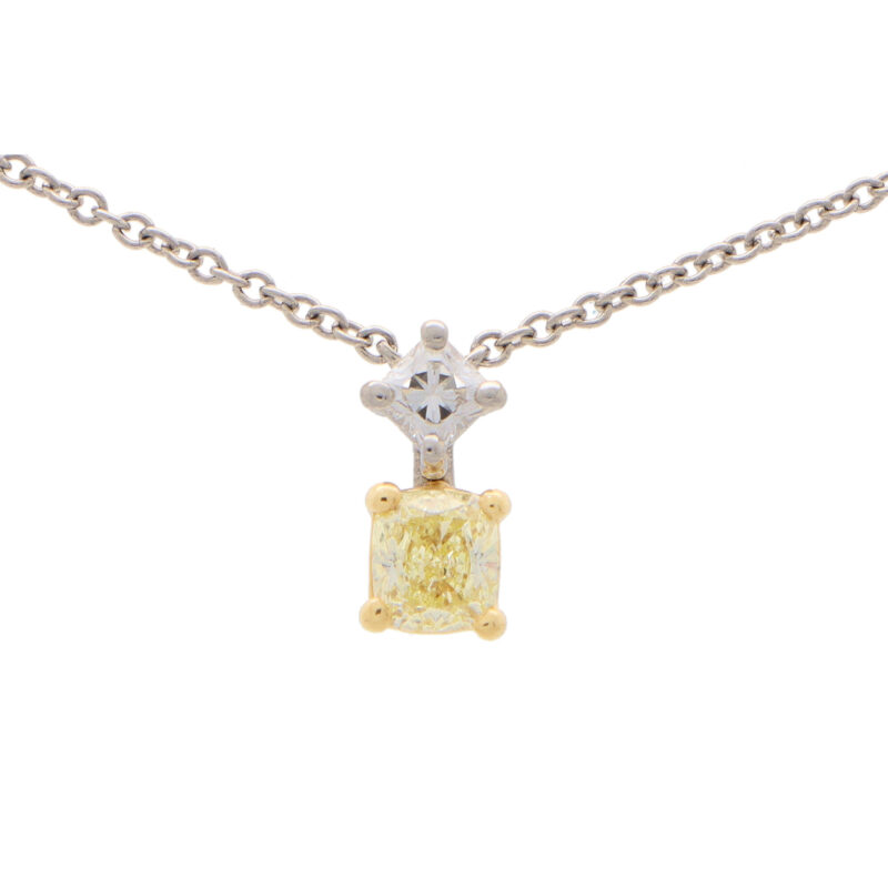 Vintage Tiffany & Co. Fancy Yellow Diamond Lucida Pendant