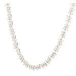 Vintage Tiffany & Co. Victoria Mixed Cluster Diamond Necklace