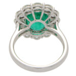 Emerald and Diamond Cluster Ring
