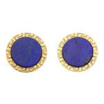 Retro Lapis Lazuli Swivel Back Cufflinks