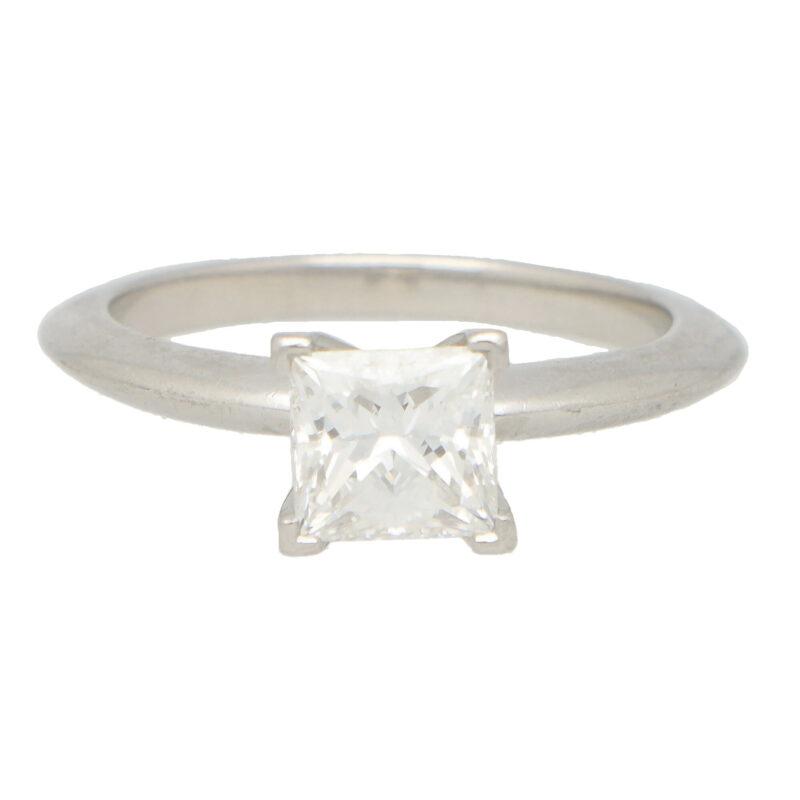 Vintage Tiffany & Co. Princess Cut Engagement Ring