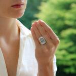 Contemporary Aquamarine and Diamond Cocktail Ring