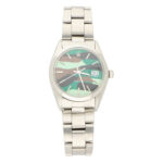 Rolex Oysterdate Precision watch with custom camouflage dial