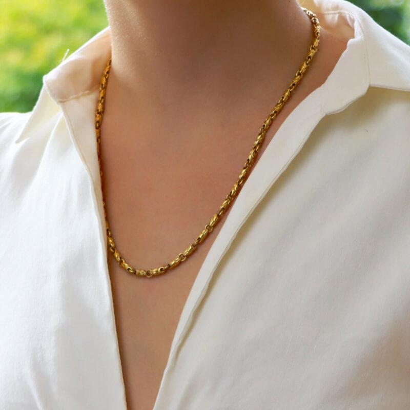 Vintage Bvlgari Fancy Link Chain Necklace