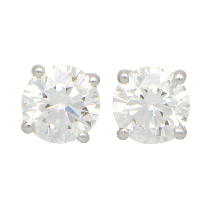 Solitaire GIA Certified Diamond Studs 1.25 carats