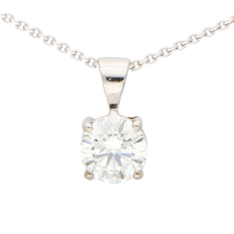 GIA Certified 0.90 Carat Solitaire Pendant