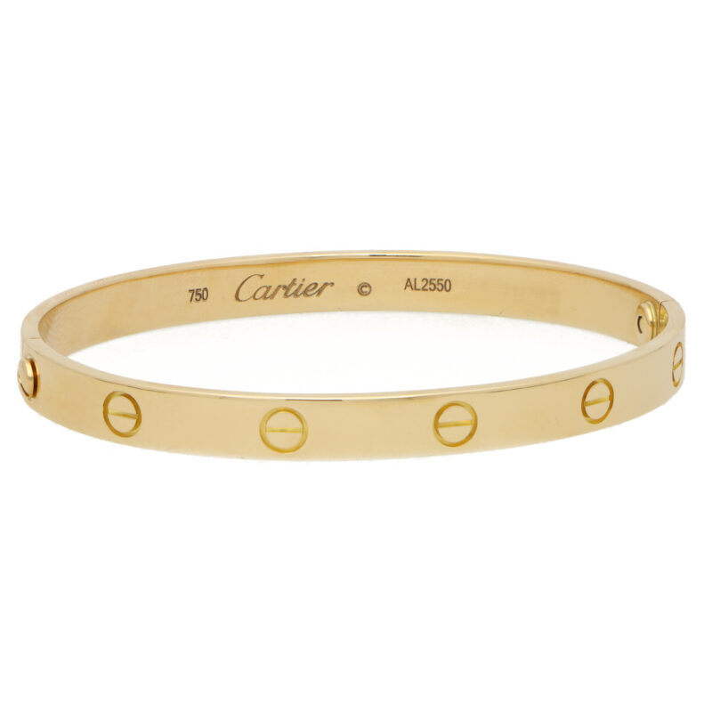 Vintage Cartier Love Bangle in Yellow Gold Size 18