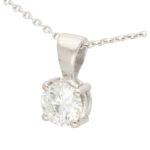 GIA Certified 0.50 Carat Solitaire Pendant