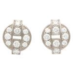 Vintage Cartier Himalia Diamond Stud Earrings