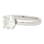 Certified 1.54ct Round Cut Solitaire Ring