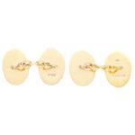 Oval Chain Link Cufflinks in 9k Yellow Gold