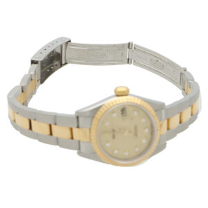 Vintage steel and gold Rolex with diamond set dial