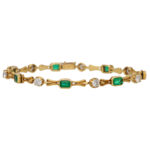 Vintage Boodles Emerald and Diamond Bracelet