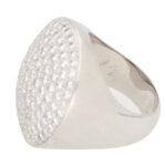 Vintage Cartier Jeton Sauvage White Diamond Cocktail Ring