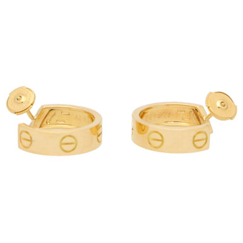 Vintage Cartier Love Hoop Earrings