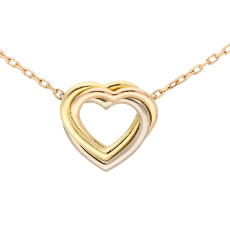 Vintage Cartier Open Heart Trinity Necklace