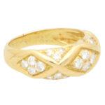 Vintage Van Cleef & Arpels Diamond Bombe Ring