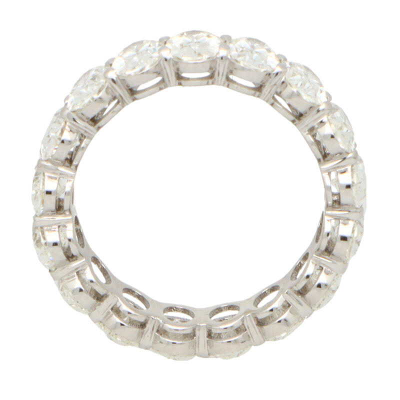 GIA Certified 5.23ct Oval Cut Diamond Full Eternity Ring