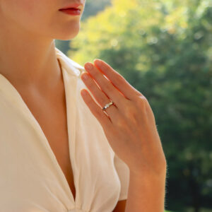 Certified Vintage Cartier Lanières Solitaire Diamond Ring