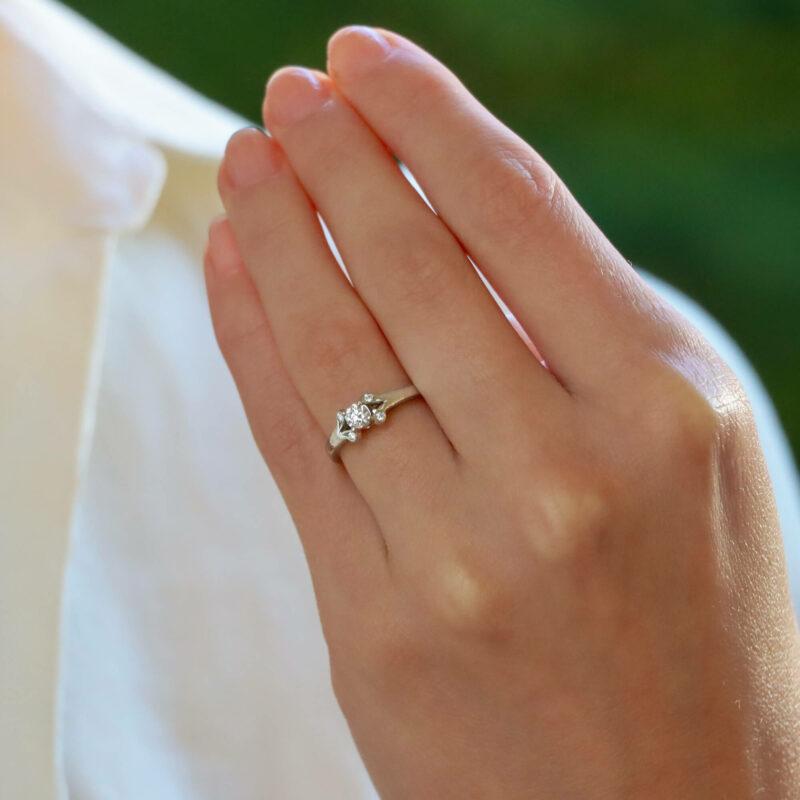 Vintage GIA Certified Cartier 'Ballerine' Diamond Ring