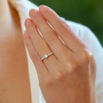 Vinatge Tiffany & Co. 'Novo' Cushion Cut Diamond Ring