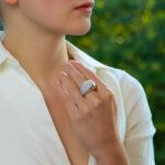 Vintage Fred Paris Diamond Bombe Ring