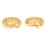 Vintage Chaumet Diamond Hoop Earrings