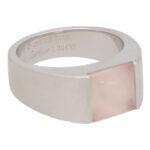 Vintage Cartier Rose Quartz Tank Ring