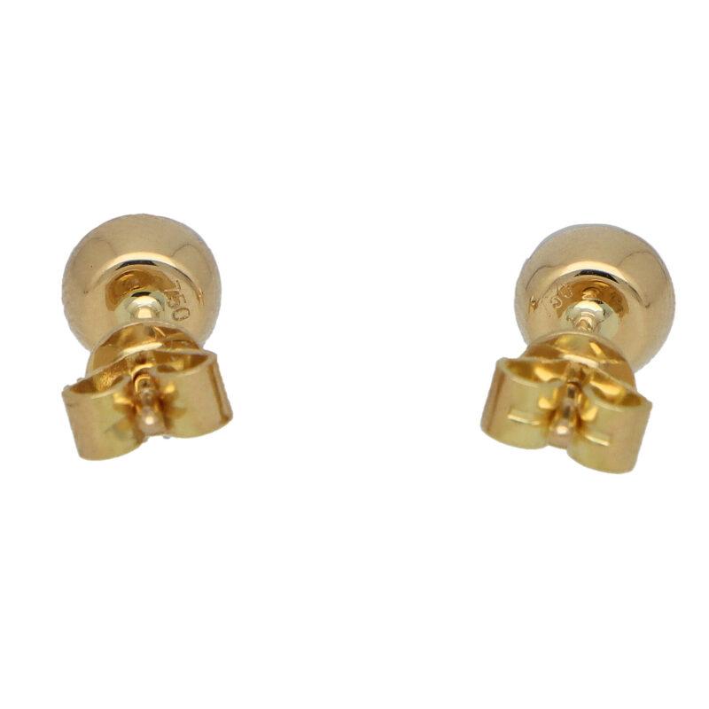 Round Cut 0.47ct Ruby Stud Earrings