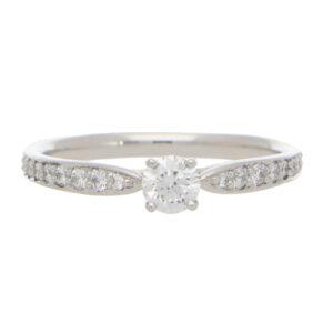 Vintage Tiffany & Co. Round Brilliant Cut Diamond Ring