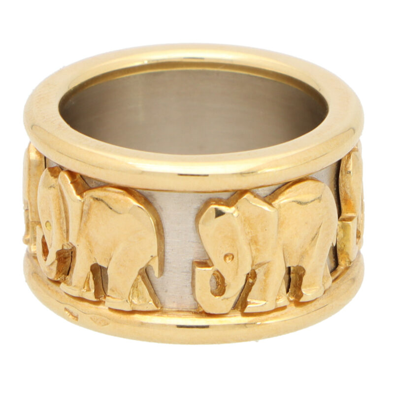 Vintage Cartier Walking Elephant Ring