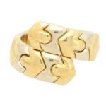Vintage Bvlgari Tubogas Serpenti Cross-over Ring