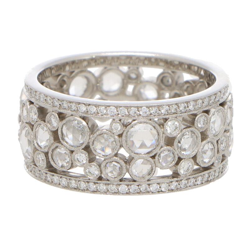 Vintage Tiffany & Co. Rose Cut Diamond Cobblestone Band