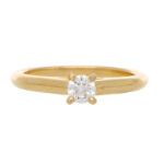 Vintage Cartier 0.18ct Diamond Single Solitaire Ring