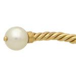 Vintage Bvlgari Pearl Twist Rope Torque Bangle
