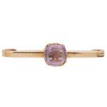 Late Victorian Amethyst Pin Bar Brooch